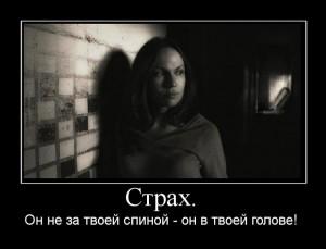 Страх в голове. Борьба со страхом